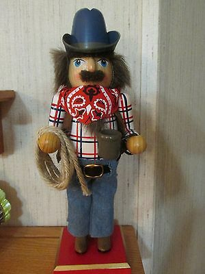Western Roping Cowboy Christmas Nutcracker Boots Hat Rodeo Plaid Shirt Jeans