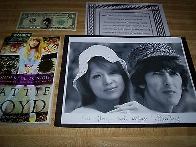 The Beatles / George Harrison & Pattie Boyd / Hand-Signed Photo & Book