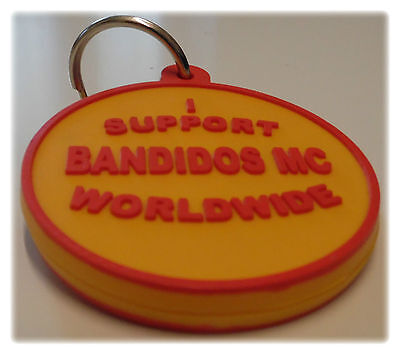 Support Bandidos MC Worldwide KEYFOB SYLB Red and Gold 666 Fat Mexican