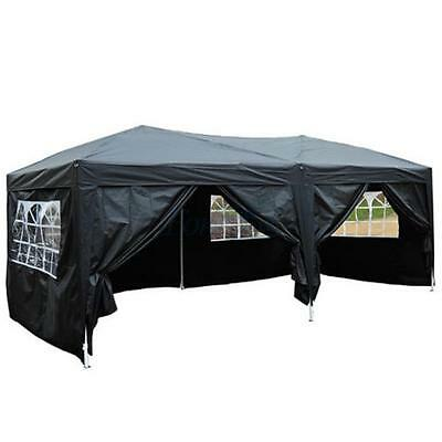 Waterproof 10'x20'Pop Up Gazebo Marquee Garden Awning Party Tent Canopy 6 Sidesw