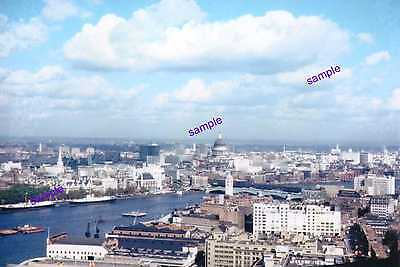 River Thames 1960 Note Navy Ships & Low Sky Line Of The Day No High Rise Offices