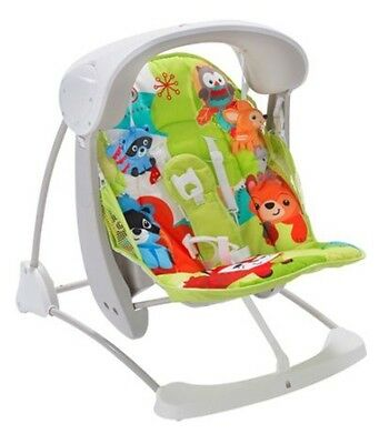 Fisher Price Woodland Friends Take-a-long Baby Bouncer & Swing Combined.