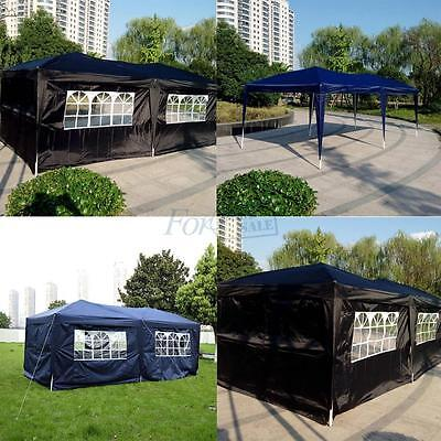 6x3mtr FULLY WATERPROOF Pop Up Gazebo with Sides and Bag