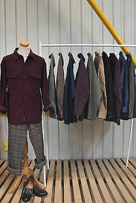Job Lot 10 X Vintage Suede Shirts. Unisex.