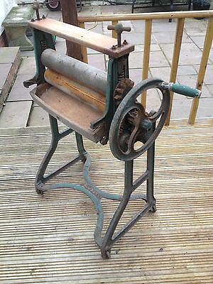 Vintage Antique Cast Iron Ewbank Mangle Converts into a Table ~ Upcycling
