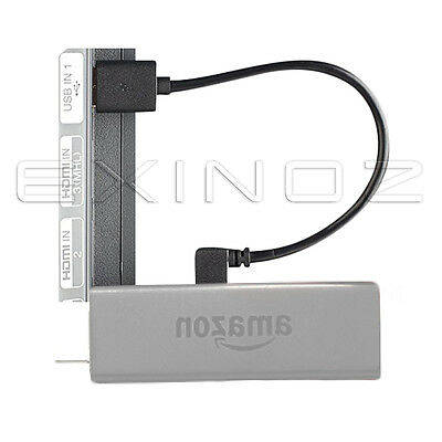 EXINOZ Mini Fire TV USB Cable - Connect Fire Stick Straight to TV USB Port 20cm