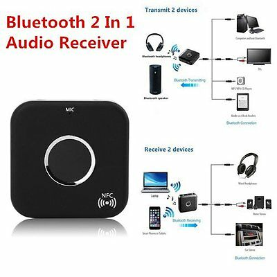 Promotion Bluetooth 2 In 1 Audio Receiver Transmitter 3.5mm Stereo Port LOT GA