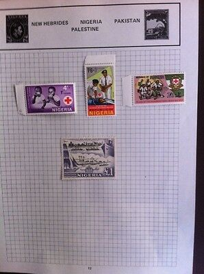 £ 1 Mint Nigeria 1953 Stamp + mint others hinged on sheet