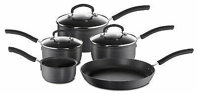 Tefal Inspire Hard Anodised Non-stick Cookware Set, 5 Pieces in Grey