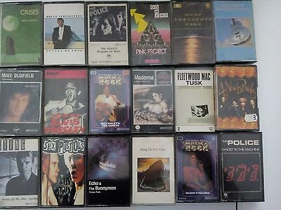 Lote 18 Cassettes Rock Bruce Springteen Dire Straits E Mike Oldfield  Police