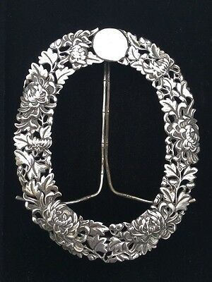 Antique Chinese Export Silver Photo Frame. Tuck Chang. 1900.