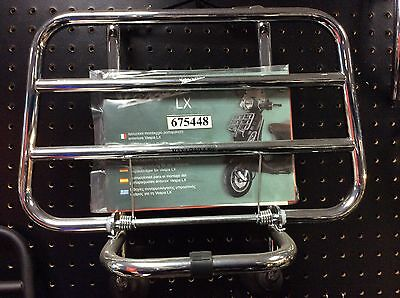 BN GEN PIAGGIO VESPA LX 3v SCOOTER CHROME FRONT FLIP RACK CARRIER