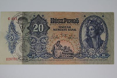 Hungary Germany occupation banknote WWII/WW2
