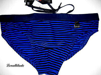 HOM SLIP DE BAIN BLEU TAILLE 4 BEACH FUN BLUE BRIEF TRUNKS size USA/M GB/34 EU/5
