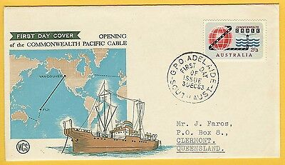 1963 'Commonwealth cable' 2'3 on WCS first day cover -- See details