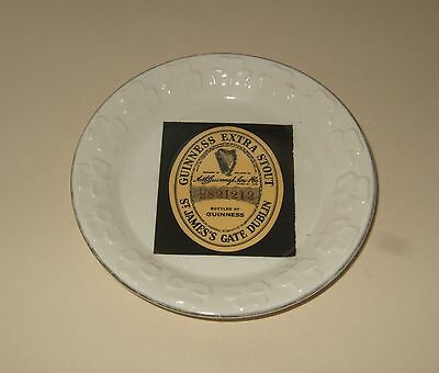 Guinness Irish Pottery Shamrock Edged Dish