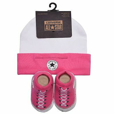 Designer CONVERSE 'All Star' Hat and Booties Pink 0/6 months PERFECT GIFT