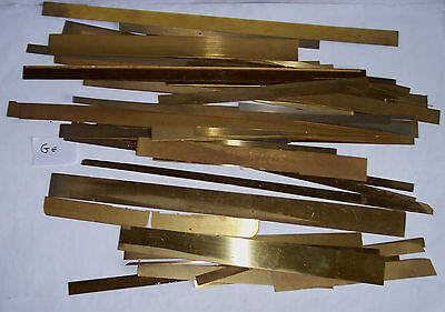 Gauge O 7mm – Etched Brass Straight Lengths - 30+ - ex kits edges? - see note Ge