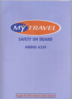 My Travel Airbus A330 Safety Card (Lower Deck)