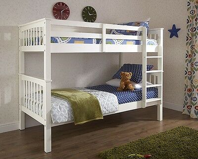 Stylish White Wooden Bunk Beds With Free Next Day Delivery