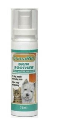 Exmarid Skin Soother 75Ml For Dry Scaly Itchy Skin Cat Dog Tea Tree Aloe Vera