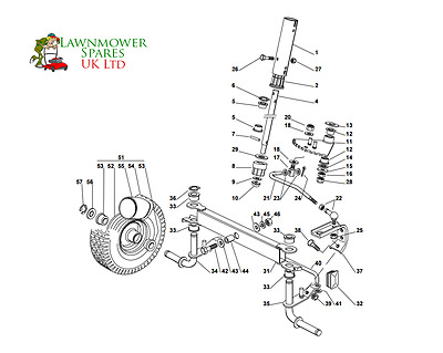 Mountfield R25M Rideon Lawnmower Steering Assembly Parts