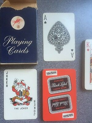 vintage Carling Black Label playing cards by Jarvis Porter 1960s