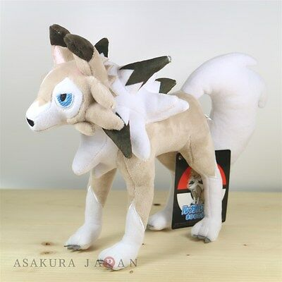 Pokemon Center Original Plush Lycanroc Midday Form doll Sun Moon from Japan
