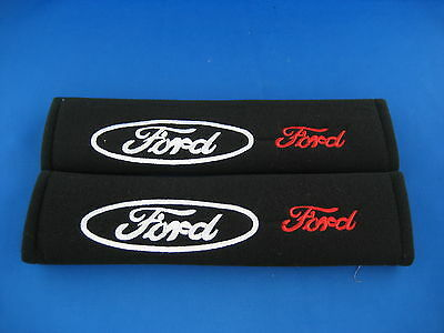 2 x Seat Belt Cover Shoulder Pads for FORD Focus Fiesta Fusion New