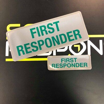 Encapsulated FIRST RESPONDER reflective badge 250mm Set ST2