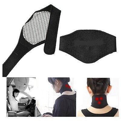 Self Heating Magntic Neck Heat Brace Support Strp Pain Ache Relief Collar Strain