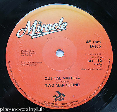 "TWO MAN SOUND Que Tal America / Brazil O Brazil 12"" UK 1978 Miracle M1-12"