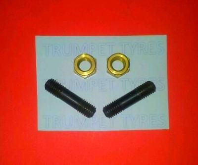 Lambretta SX 200 7MM M7 Exhaust Studs And Brass Nuts Set LE 13011/2