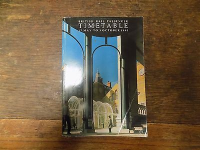 British Rail Passenger Timetable 17th May to 3rd October 1993