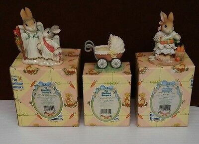 ENESCO My Blushing Bunnies Lot of 3 NIB