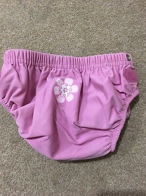 Zoggs Girls Pink Flower Reusable Swim Nappy 3 - 24 Months