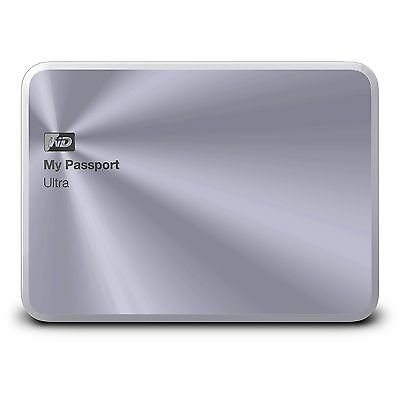 WD 2TB Silver My Passport Ultra Metal Edition Portable  External Hard Drive  ...