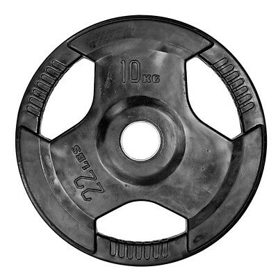 CoreX Fitness Weightlifting 10kg Olympic Rubber Radial Lifting Plate  - Black