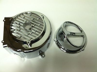 CHROME FAN COVER WITH AIR SCOOP FOR 150cc GY6 MOTORS