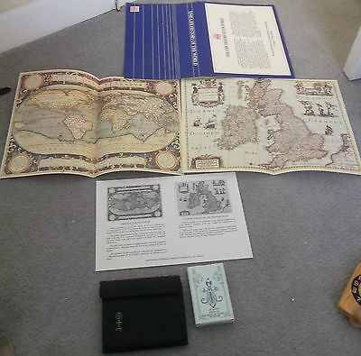 fortune teller cards wallet old vintage historic maps mixed job lot