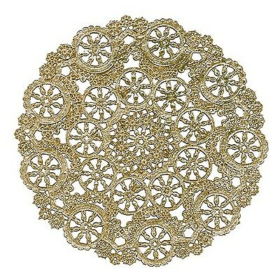 Royal Lace Round Foil Doilies Gold 8-Inch Pack of 12 (B26510)