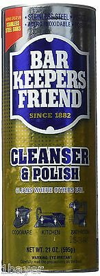 Bar Keepers Friend Porcelain Cookware Sink Ceramic Cleanser Polish Powder (21oz)