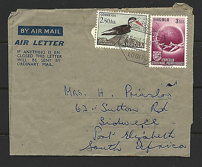 1952 Angola Air Mail Letter To South Africa
