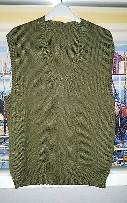 WW2 pattern repro US ARMY tank top jumper approx 44 chest before stretching