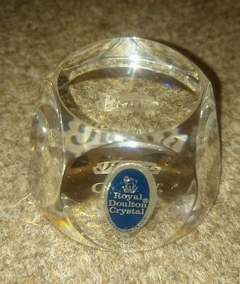 Royal Doulton Crystal Paperweight