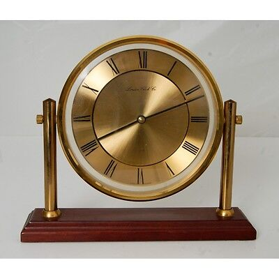 London Clock Company Gold Colour Table / Desk Clock West Germany