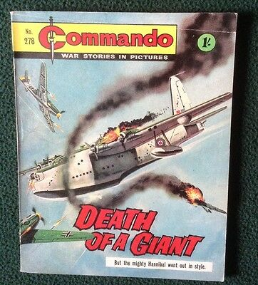 Commando war comic No 278, Death Of A Giant, Printed Juy 1967