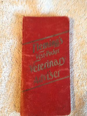 1904 FLEMING'S Vest-Pocket VETERINARY ADVISOR