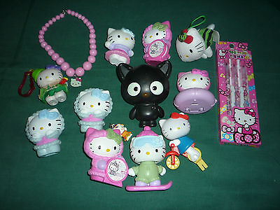 14 Piece Lot of Hello Kitty Toys and Collectibles
