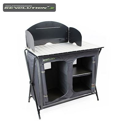Outdoor Revolution Kitchen Stand With Windshield Caravan Camping Cooking FUR1640